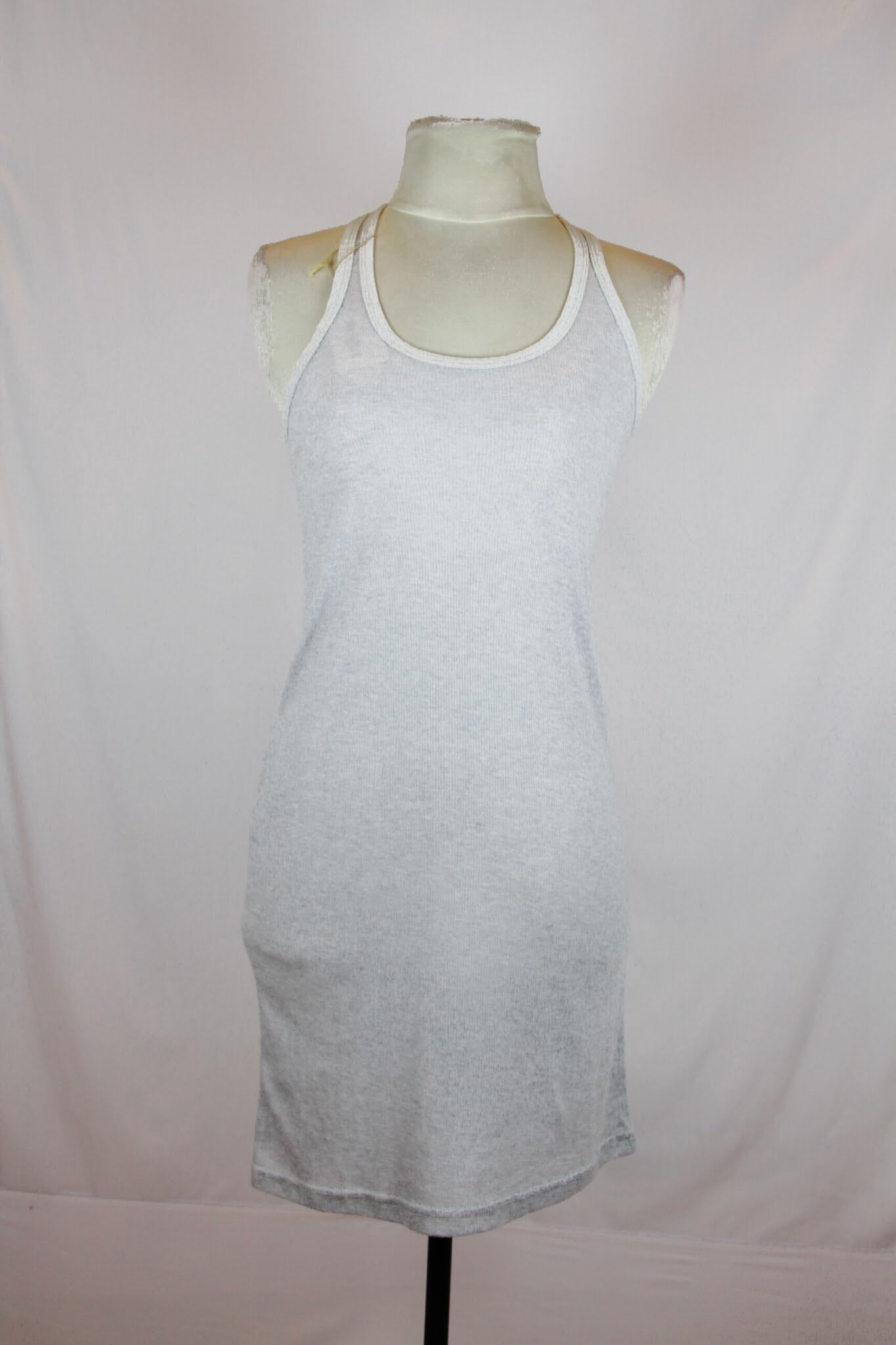 Rococo Light Grey Tank Dress with Dark Grey Lining