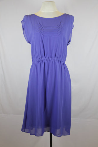 Esprit Blue Scoop Neck Garter Waist Midi Dress
