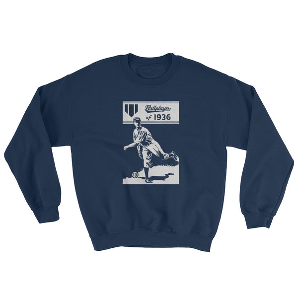 1936 Ballplayer Retro Sweatshirt