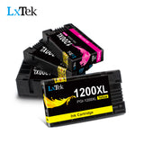 LxTek PGI-1200XL (4 Pack) Compatible for Canon 1200XL PGI-1200 PGI1200XL Ink Cartridge Replacement for Canon MAXIFY MB2720 MB2120 MB2320 MB2020 Printer (1Black, 1Cyan, 1Magenta, 1Yellow) High Yield