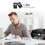 LxTek Remanufactured 63XL 63 XL Ink Cartridge High Yield, Used in DeskJet 1112 2132 3632, Envy 4520 4516, Officejet 3830 3833 4650, Shows Accurate Ink Level (2Black)