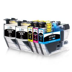 LxTek Compatible for Brother LC3219 LC3219XL Ink Cartridges for Brother MFC-J5330DW MFC-J5335DW MFC-J5730DW MFC-J5930DW MFC-J6530DW MFC-J6930DW MFC-J6935DW (2 Black, 1 Cyan, 1 Magenta, 1 Yellow)