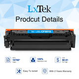 LxTeK Compatible for HP 202X CF500X 202A CF500A M281fdw Toner Cartridge for HP Laserjet Pro MFP M281fdw, M254dw, M281cdw, M254nw, M280nw, M254dn Printer (Black Cyan Magenta Yellow, 4 Pack-High Yield)