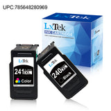 LxTek Remanufactured Ink Cartridge Replacement for Canon 240XL PG-240XL 240 241XL CL-241XL 241 to use with PIXMA MG3620 TS5120 MX472 MG3220 MG2120 MX512 MX532 MG3520 MG3222 (Black, Tri-Color, 2 Pack)