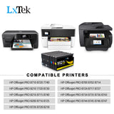 LxTek 5 Pack 952XL Remanufactured Ink Cartridge Replacement for HP 952 952XL 952 XL for HP OfficeJet Pro 8710 8720 8216 8715 7720 7740 8210 8730 8740 8725 Printer (2 Black, 1 Cyan,1 Magenta,1 Yellow)