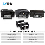 LxTek Remanufactured Ink Cartridge Replacement for HP 932XL 932 XL for HP Officejet 6600, Officejet 6100, Officejet 7110, Officejet 6700, Officejet 7612, 7510, 7610 Printer (2-Black, High Yield)