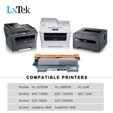 LxTek Compatible Toner Cartridge Replacement for Brother TN-450 TN 450 TN420 to use with MFC-7360N DCP-7065DN IntelliFax 2840 2940 MFC-7860DW MFC-7460DN HL-2270DW MFC7240 Printer, 4 Black