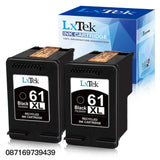 LxTek Remanufactured 61XL Ink Cartridge Replacement for HP 61XL 61 XL CH563WN for HP Envy 4500 5530 5534 5535, OfficeJet 4635 4630 2620, DeskJet 1000 1056 1512 2514 2540 2544 3000 (2 Black) High Yield