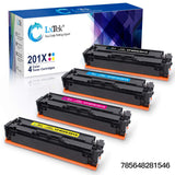LxTek Compatible Toner Replacement for HP 201X 201A CF400A CF400X to use with Color Laserjet Pro MFP M277dw M277c6 M277n M277 Color Laserjet Pro M252dw M252n (1Black,1Cyan,1Magenta,1Yellow) 4Pack