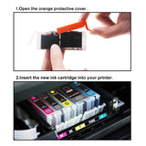 LxTek Compatible Ink Cartridges Canon PGI-570XL CLI-571XL (2 PGBlack, 1 Black, 1 Cyan, 1 Magenta, 1 Yellow) for Canon PIXMA MG5700 MG5750 MG5751 MG5752 MG5753 MG6800 MG6850 MG6851 MG6852 MG6853 TS5050 TS5051 TS5053 TS5055 TS6050 TS6051 TS6052 Printer
