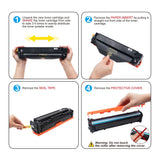 LxTek Compatible Toner Cartridge Replacement for Canon 131 to use with ImageClass MF628Cw MF624Cw MF8280Cw LBP7110Cw LaserJet M251nw M276nw, 4-Pack