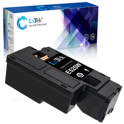 LxTek Compatible Toner Cartridge Replacement for Dell E525W E525DW E525 525 to use with E525W Color Laser Printer (1 Black, High Yield)