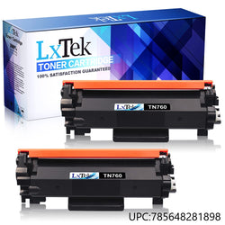 LxTek Compatible Toner Cartridge Replacement for Brother TN760 TN 760 TN730 to use with HL-L2350DW DCP-L2550DW MFC-L2710DW HL-L2395DW MFC-L2750DW HL-L2370DW HL-L2390DW Printer(Black, 2Pack)