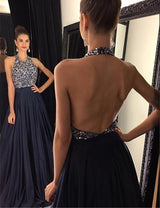 A-line Prom Dresses,Backless Prom Dress,Beading Prom Dress,Sleeveless Prom Dress,Cheap Prom Dress,PD0038