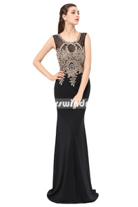 Black Prom Dresses,Vintage Prom Gowns,Long Evening Dress, Evening dresses,LX360