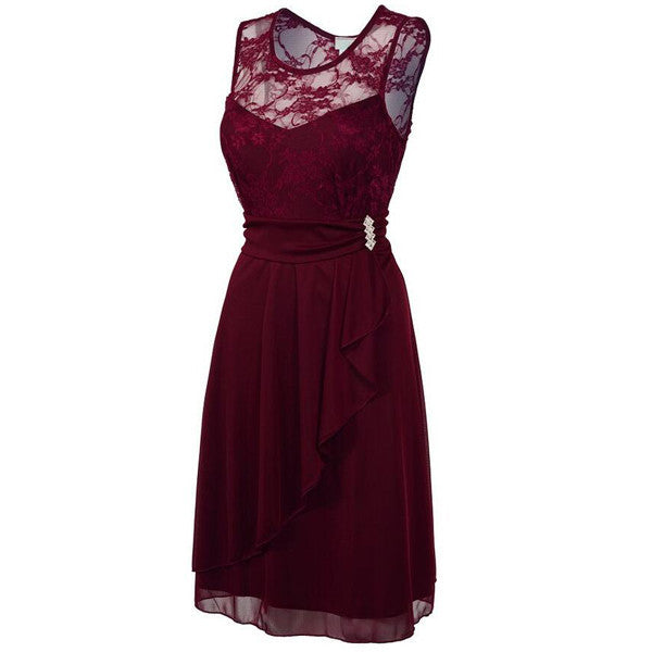 Burgundy bridesmaid dress,Short bridesmaid dress,Lace bridesmaid dress,homecoming prom dress,BD398