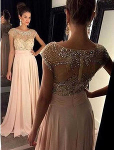 Cap Sleeve Prom Dresses,Charming Prom Dress,Beading Prom Dresses,A-line Prom Dress,Cheap Prom Dresses,PD00210