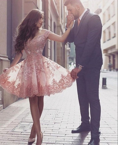 A-line Homecoming Dress,Off-shoulder Homecoming Dresses,Attractive Homecoming Dress,short prom Dress,PD00108