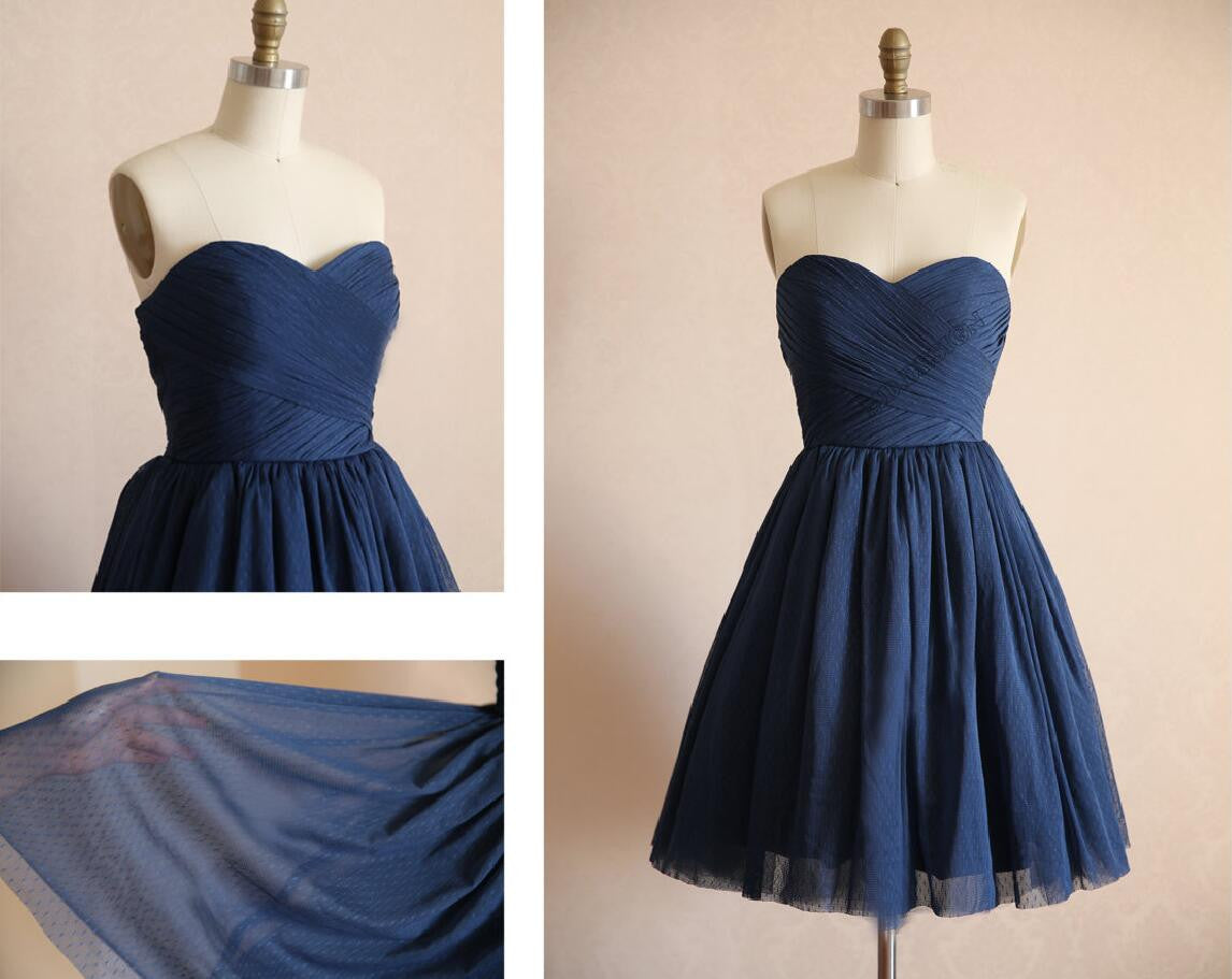 short bridesmaid dress,navy bridesmaid dress,simple bridesmaid dress,cheap bridesmaid dress,BD446