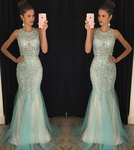 Charming prom Dress,Beading Prom Dresses,Mermaid prom Dress,Backless prom dress,Evening dress,BD066