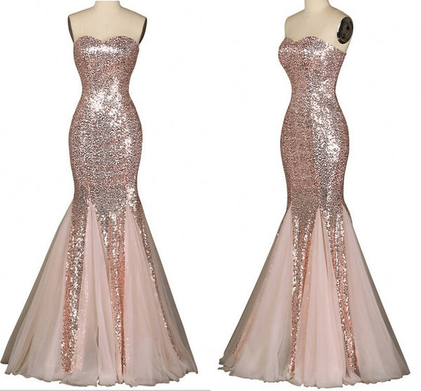 Long Prom Dresses,Charming Prom Dress,sequin Prom dress,mermaid prom Dress,2016 prom Dress,BD425