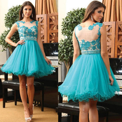 short Homecoming dress,lace homecoming Dress,A-line Prom Dresses,cheap prom dress,BD613