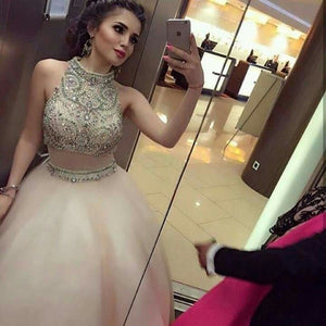 Luxurious Prom Dresses,Two Pieces Prom Dress,Ball Gown Prom Dress,Cheap Prom Dress,High Quality Prom Dress,PD0089