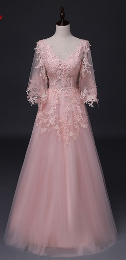 A long sleeved dress at night wedding dresses,BD15446