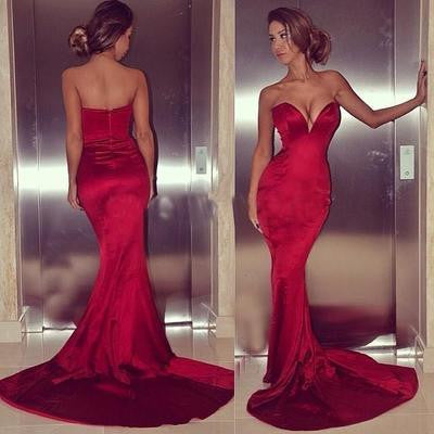 red Prom Dresses,sweetheart prom dress,long prom Dress,sexy prom dress,mermaid prom dress,BD0398