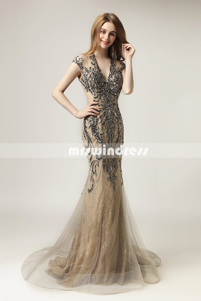 Simple Prom Dresses,Vintage Prom Gowns,long Evening Dress, Evening ...