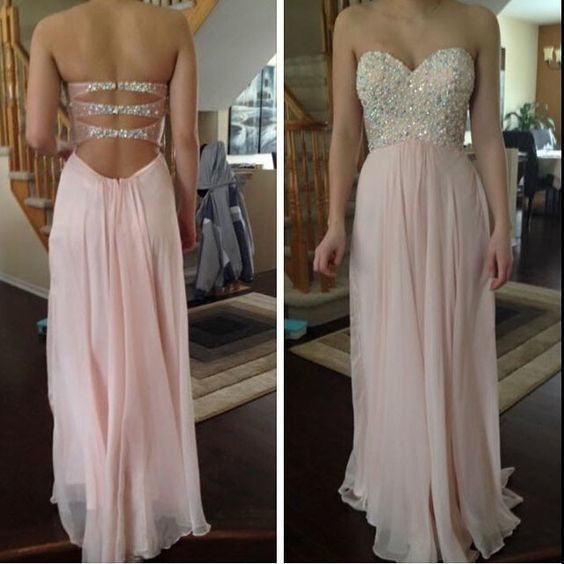 Pink prom Dress,charming Prom Dresses,Long prom Dress,backless prom dress,Party dress,BD0374