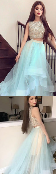 Bateau Party Dresses, Light Blue Short Prom Dresses, 2017 Homecoming Dress Bateau Rhinestone Short Prom Dress Party Dress,BD455852