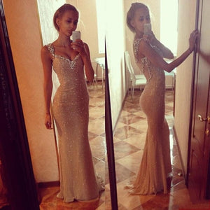 Sparkly Prom Dresses, V-neck Prom Dress,Sexy Prom Dresses,Backless Prom Dress,Cheap Prom Dresses,PD00232