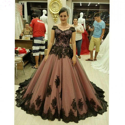 Cap Sleeve Prom Dresses, Ball Gown Prom Dress,Gorgeous Prom Dresses,Cheap Prom Dress,Elegant Prom Dresses,PD00235