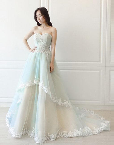Copy of Unique tulle lace long prom dress, evening dress BD98007