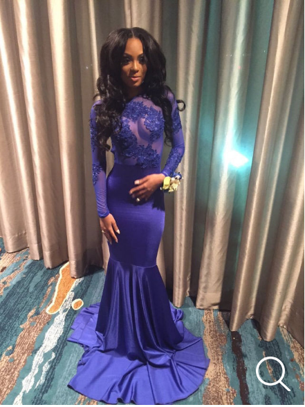 Royal Blue Prom Dressesmermaid Prom Dresslong Sleeve Prom Dresses