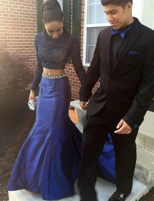 Mermaid Prom Dresses,Royal Blue Prom Dress,Beading Prom Dresses,Charming Prom Dress,Cheap Prom Dresses,PD00279