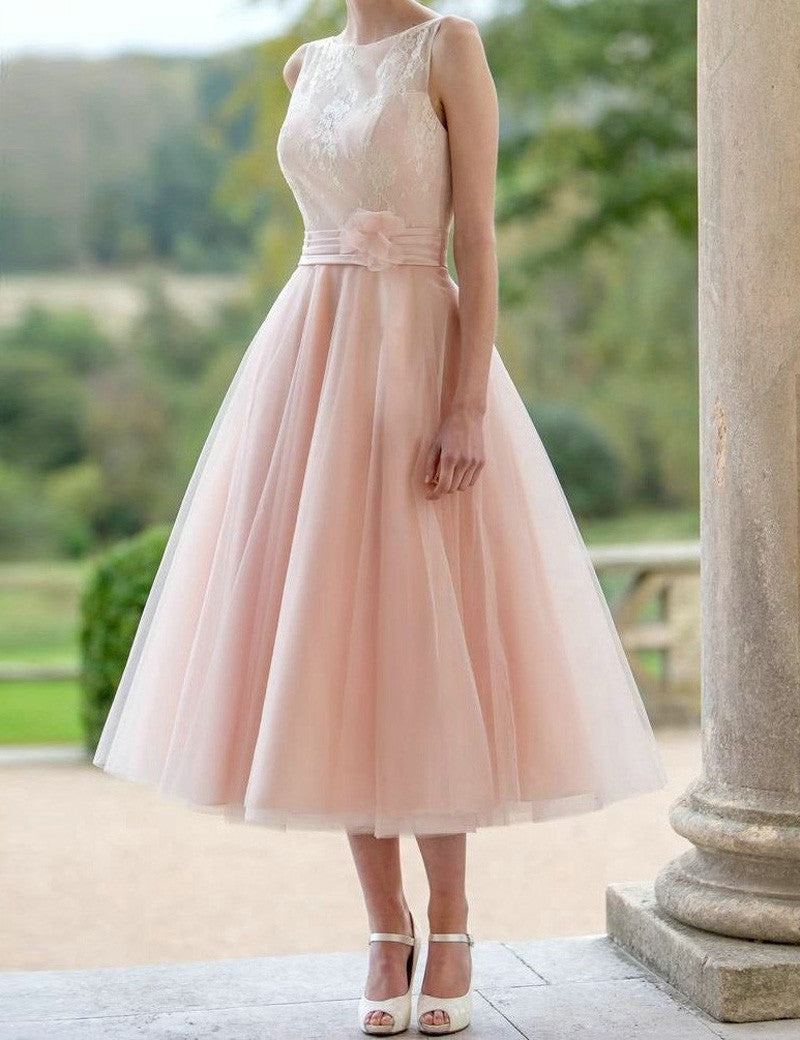 A-line Prom Dresses,Sweetheart Prom Dress,Sleeveless Prom Dress,Tea Length Prom Dress,Cheap Prom Dress,PD0040