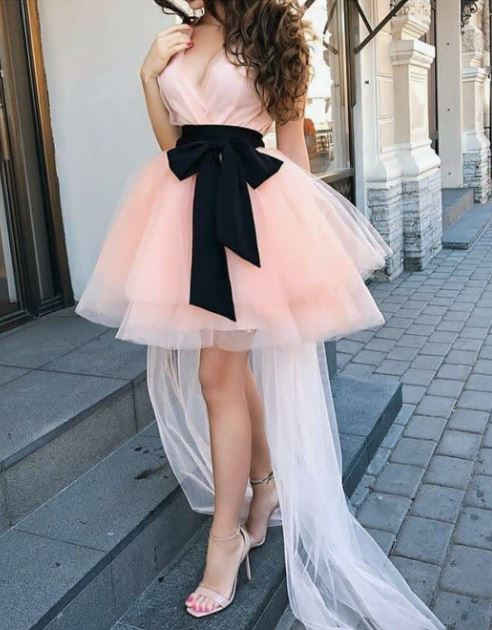 Cute Pink Tulle Homecoming Dress,Short Party Dress, BH91277