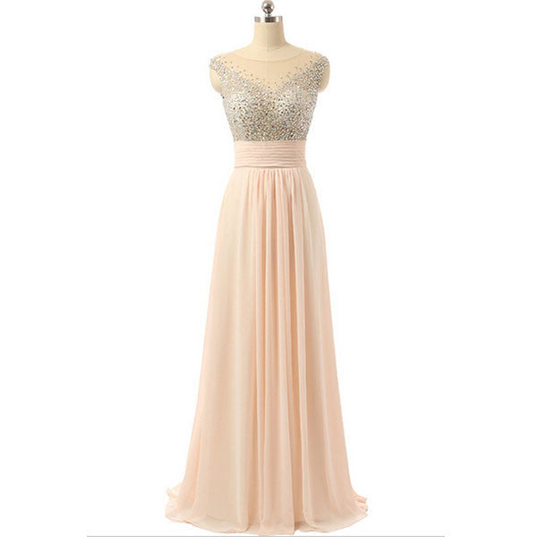 Long Prom Dresses,Blush pink Prom Dresses,Charming Prom Dress,2016 Prom Dress,Bridesmaid Dress,BD146