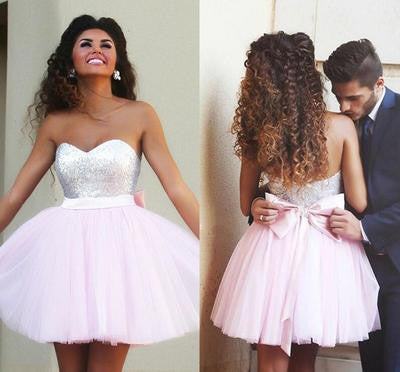 Short prom Dress,Charming Prom Dresses,Pink prom Dress,homecoming dress,Party dress for girls,BD052