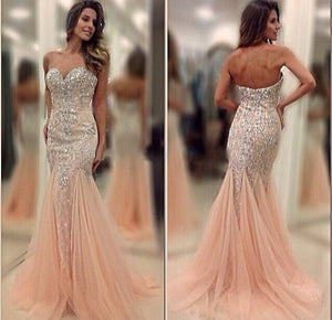 beaded prom Dress,pink Prom Dresses,formal Evening Dress,sweetheart prom dress,gorgeous evening dress 2017,BD2853