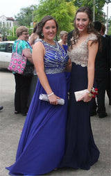 blue Prom Dresses,long prom dress,beaded prom Dress,charming prom dress,formal prom dress,BD2974