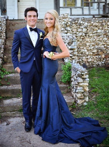 long evening Dress,mermaid Prom Dress,navy blue prom dress,elegant prom dress,formal evening dress,BD2969