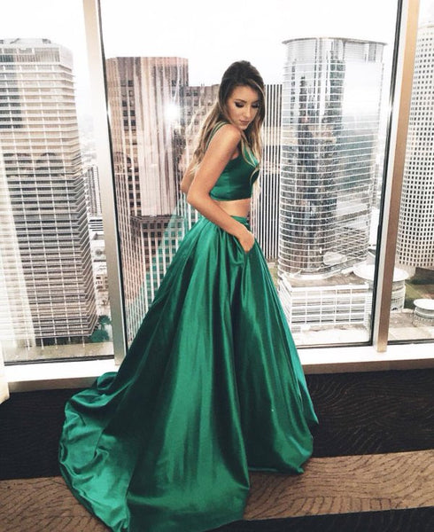 Gorgeous Prom Dresses,A-line Prom Dress,Two Pieces Prom Dress,High Quality Prom Dress,Cheap Prom Dress,PD0051