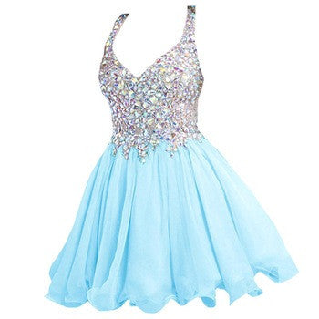 Blue Homecoming dress,short prom Dress,charming Prom Dresses,Party dress for girls,BD361