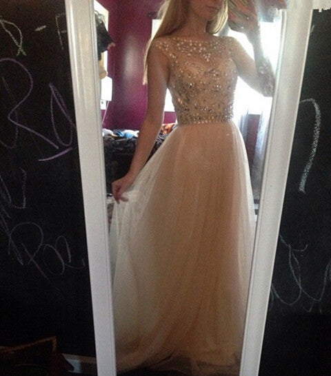 beaded prom dress,long Prom Dress,2016 evening dress,beaded evening gown,charming prom gown,BD930