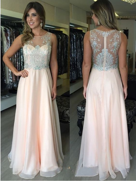 pink beaded prom dresses, dresses for women with rhinestone,PD4558910