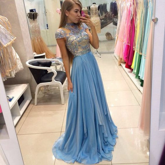 Charming Prom Dress, High-Neck Prom,long Prom Dresses, 2016 Prom Dress,Dresses For Prom,BD378