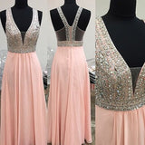 Pink Prom Dresses,Charming Prom Dresses,Unique Prom Dress,Long Prom Dress, 2017 Prom Dress,BD133